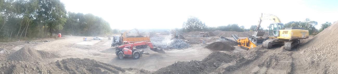 Rekultywacja terenu po wytwórni mas bitumicznych w Nadarzynie.